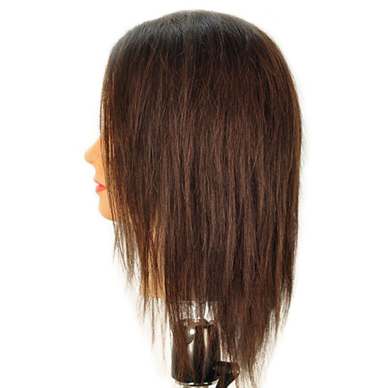 "Image 2 - Bridgette 17"" 100% Human Hair Brown Cosmetology Mannequin Head by Celebrity at Giell.com"