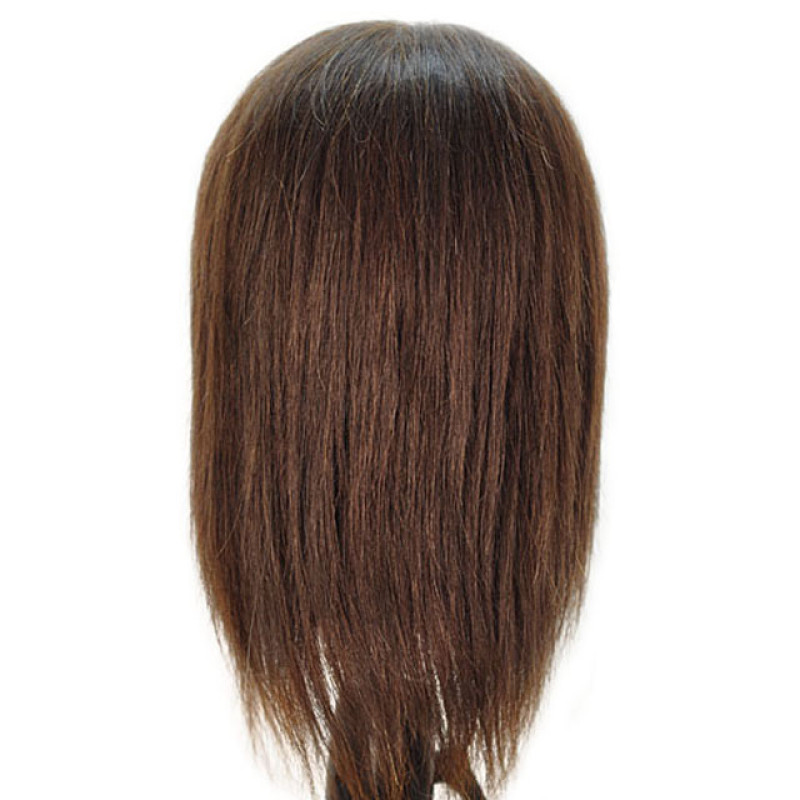 "Image 3 - Bridgette 17"" 100% Human Hair Brown Cosmetology Mannequin Head by Celebrity at Giell.com"