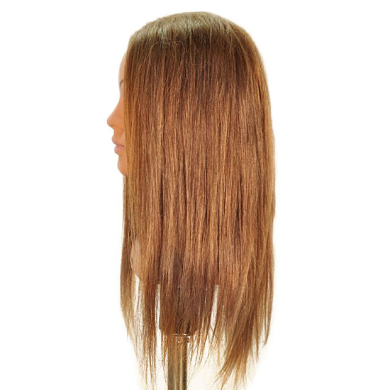 "Image 2 - Samantha 23"" Competition Dark Blonde 100% Human Hair Cosmetology Mannequin Head by Celebrity at Giell.com"