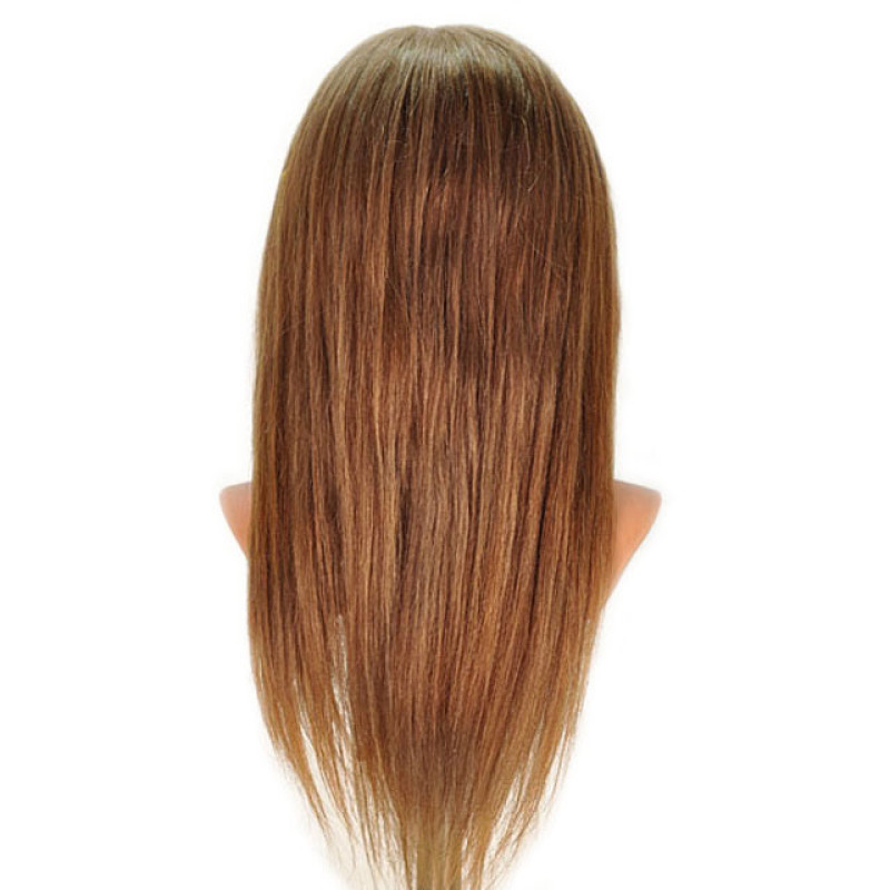 "Image 3 - Samantha 23"" Competition Dark Blonde 100% Human Hair Cosmetology Mannequin Head by Celebrity at Giell.com"