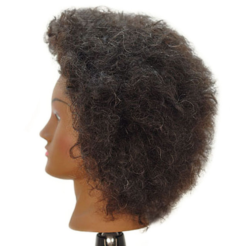 "Image 2 - Naomi 16"" Afro Style 100% Human Hair Cosmetology Mannequin Head by Celebrity at Giell.com"