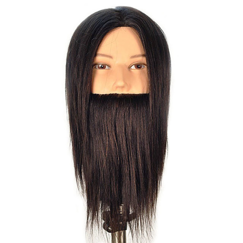 "Image 1 - Dylan 14"" Male Bearded Cosmetology Mannequin Head 100% Human Hair by Celebrity at Giell.com"