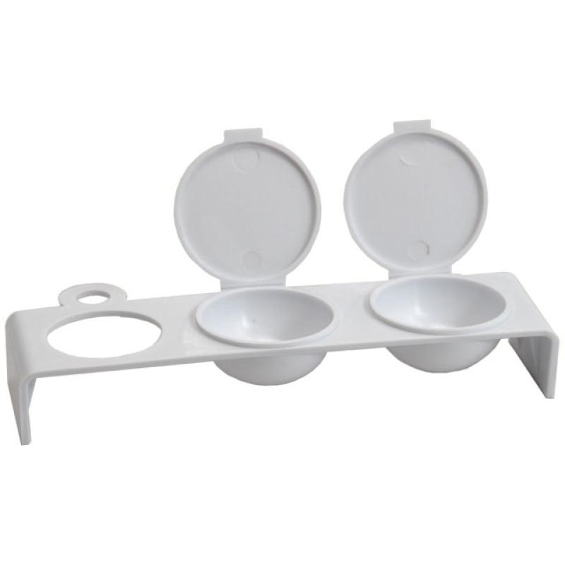 Image 1 - Plastic Triple Dappen Dish for Nail Acrylics by Debra Lynn at Giell.com