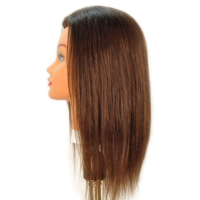 "Image 2 - Sam-II Brown 21"" 100% Human Hair Cosmetology Mannequin Head by Celebrity at Giell.com"