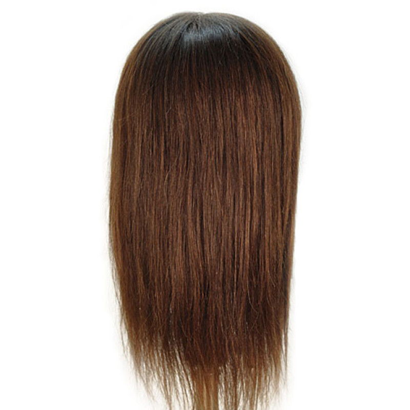 "Image 3 - Sam-II Brown 21"" 100% Human Hair Cosmetology Mannequin Head by Celebrity at Giell.com"