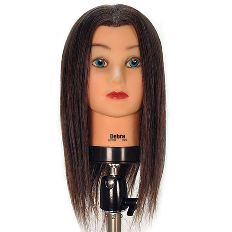 """Image 1 - Debra 19"""" 100% Human Hair Cosmetology Mannequin Head by Celebrity at Giell.com"""