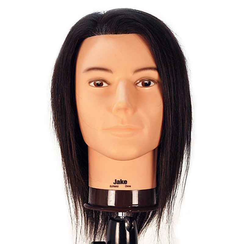 "Image 1 - Jake 18"" Male 100% Human Hair Cosmetology Mannequin Head by Celebrity at Giell.com"