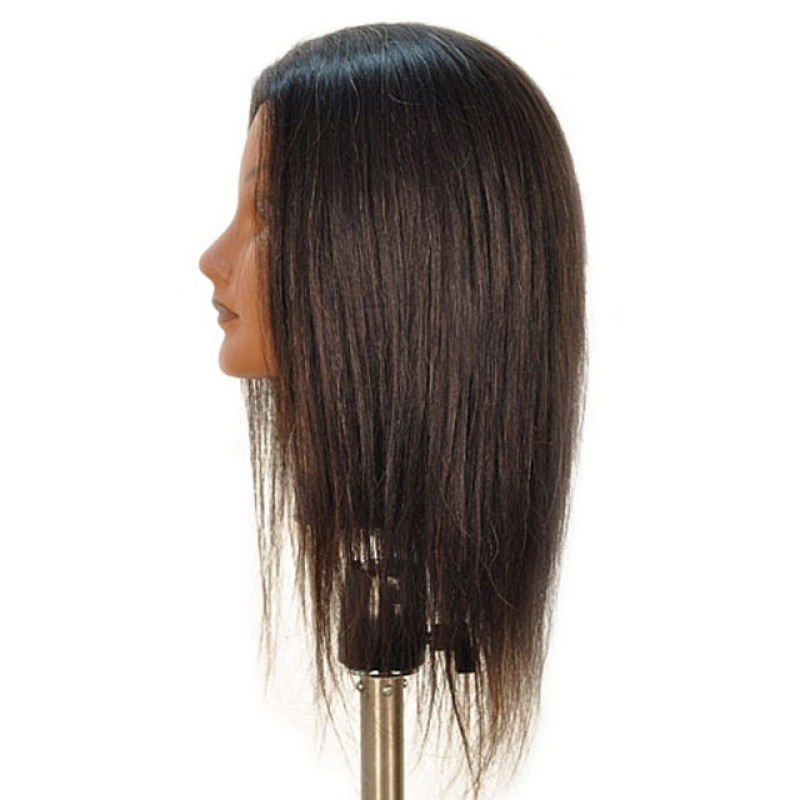 """Image 2 - Whitney 19"""" Ethnic 100% Human Hair Cosmetology Mannequin Head by Celebrity at Giell.com"""