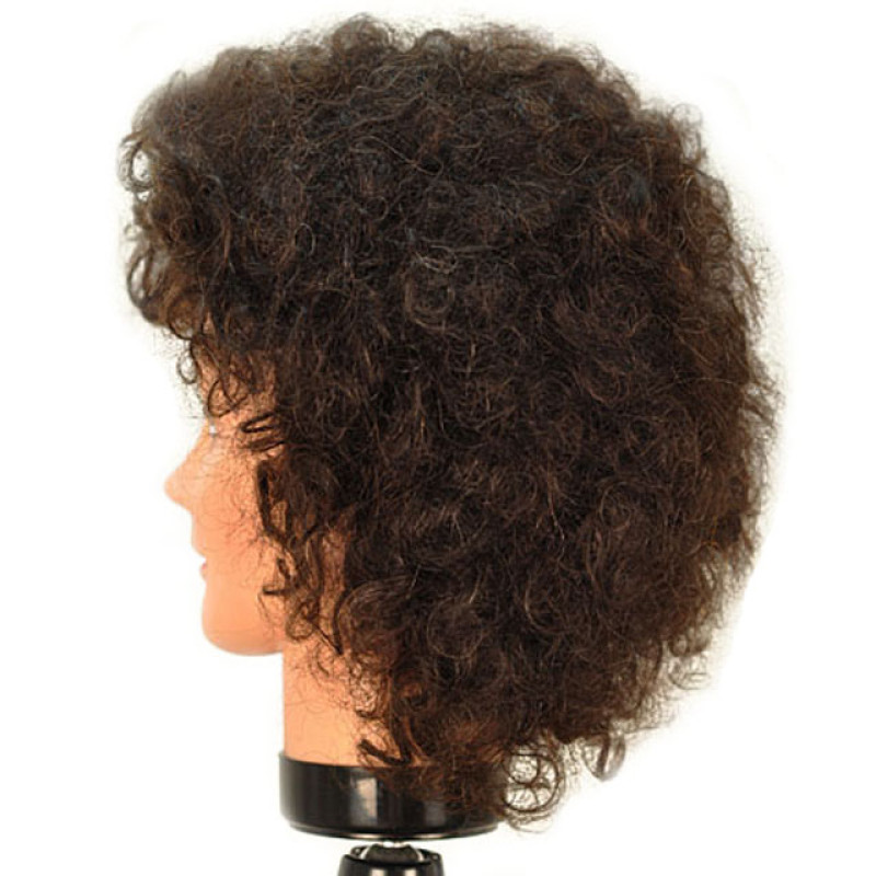 "Image 2 - Erica 16"" Remy Naturally Curly 100% Human Hair Cosmetology Mannequin Head by Celebrity at Giell.com"