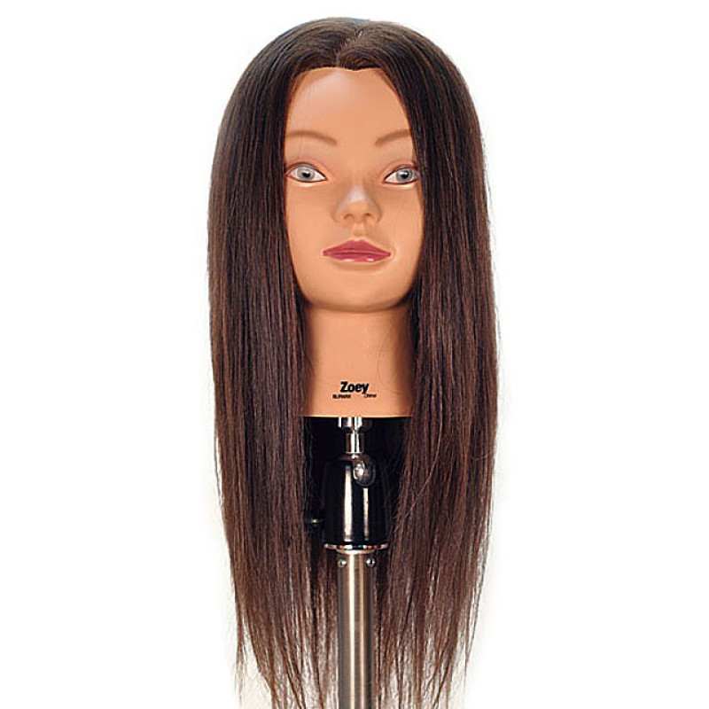 """Image 1 - Zoey 24"""" 100% Human Hair Cosmetology Mannequin Head by Celebrity at Giell.com"""