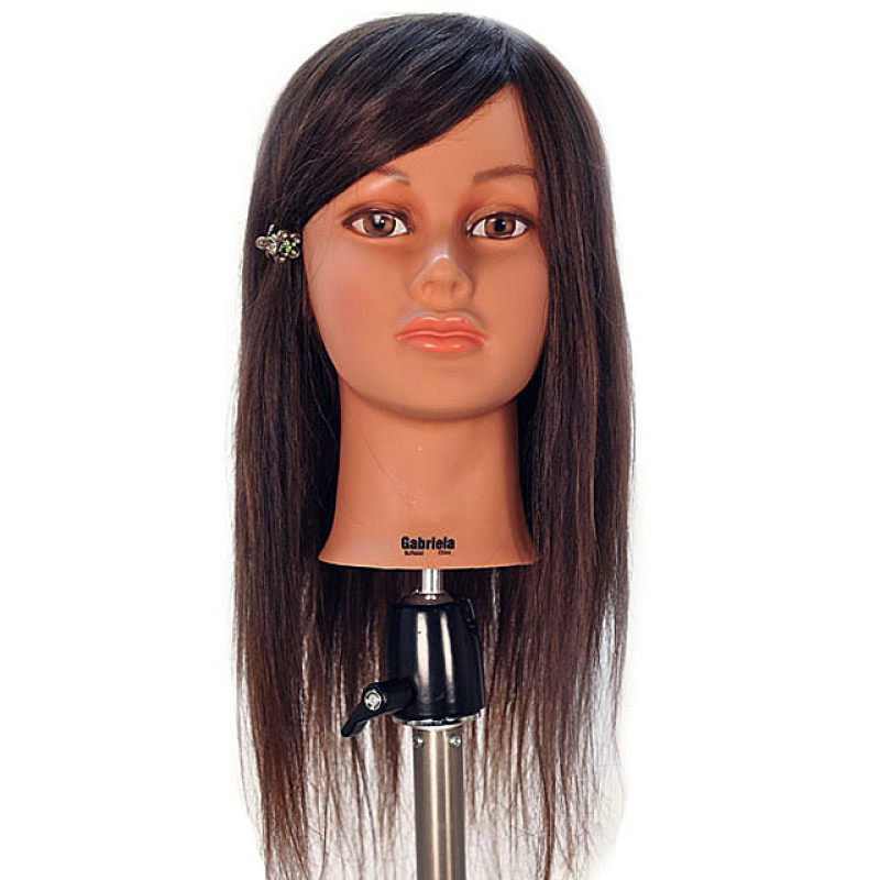 """Image 1 - Gabriela 21"""" 100% Hair Cosmetology Mannequin Head by Celebrity at Giell.com"""