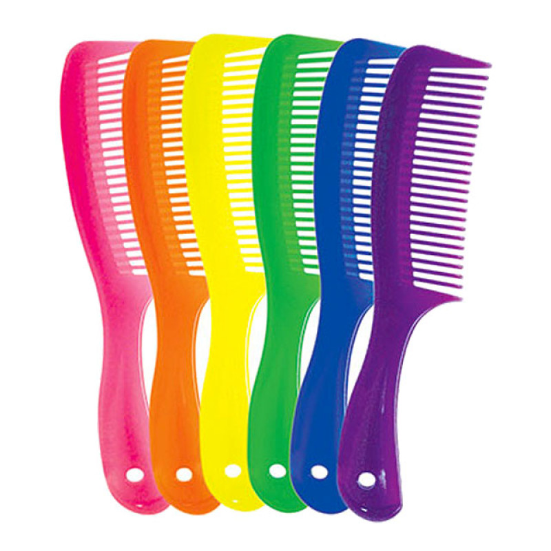 """Image 1 - 36 pcs 8.5"""" Rake Combs Assorted Neon Colors by Aristocrat at Giell.com"""