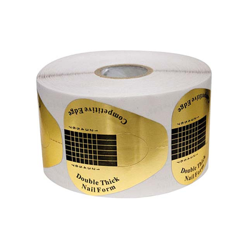 Image 1 - Double Thick Nail Forms 500 per Roll by DL Professional at Giell.com