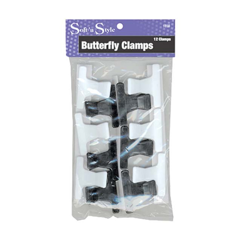 "Image 2 - 12 pcs 2"" Butterfly Hair Clamps / Clips by Soft 'n Style at Giell.com"