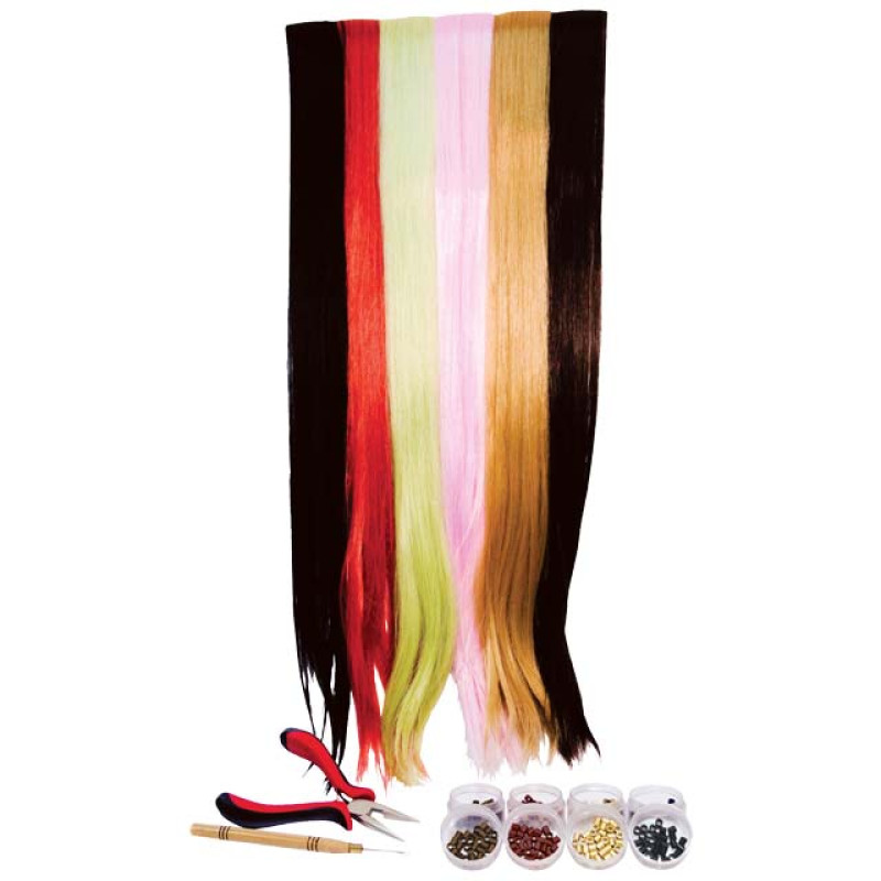 Image 1 - Hair Extension Learning Kit with Tools by Gold Magic at Giell.com