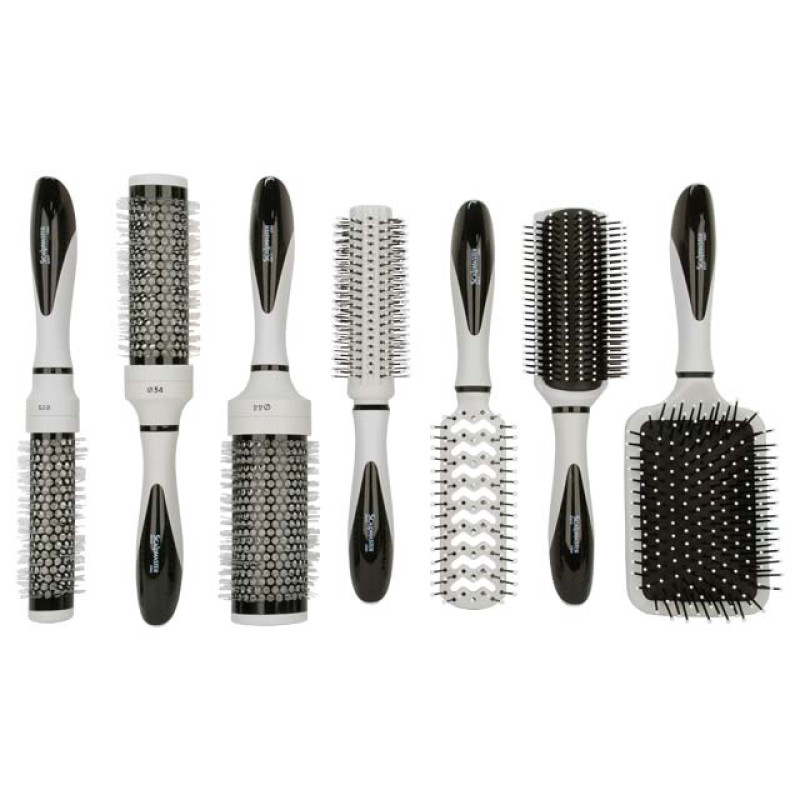 Image 2 - 7 pcs Hair Brush Collection Set in Carrying Case at Giell.com