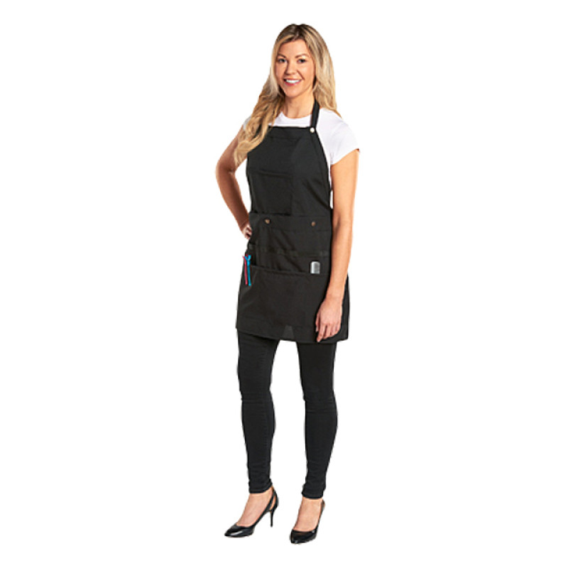 Image 1 - Convertible Salon Stylist Apron / Tool Belt - Polyester Black at Giell.com