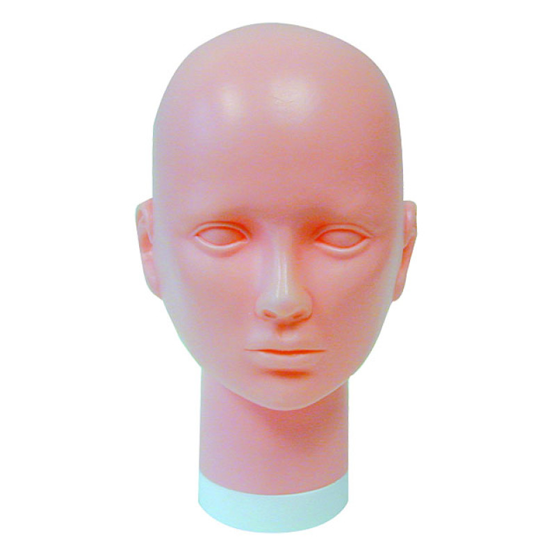 Image 1 - Bald Slip-on Head Form made of Plastic by Celebrity at Giell.com
