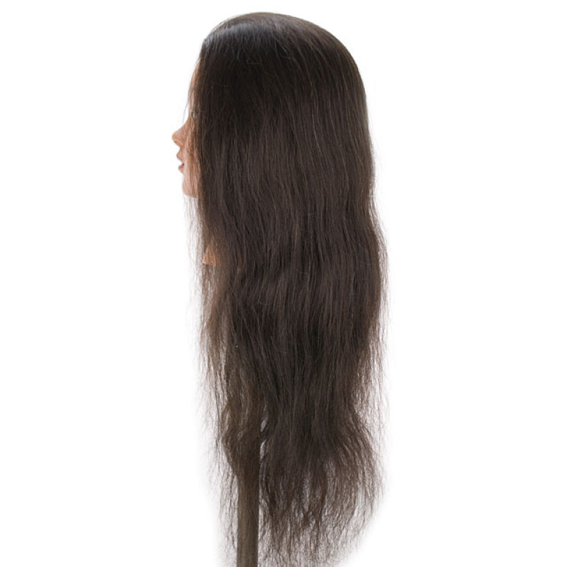 "Image 2 - Selena 30"" Super Long 100% Human Hair Cosmetology Mannequin Head by Celebrity at Giell.com"