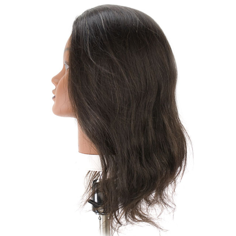 "Image 2 - Tina 21"" Ethnic 100% Human Hair Cosmetology Mannequin Head by Celebrity at Giell.com"