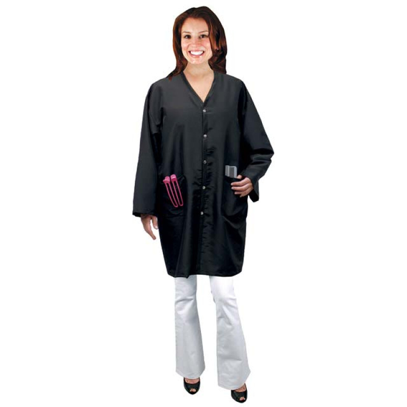 Image 1 - Student Uniform / Smock Full Cut One Size Black by Salon Chic at Giell.com