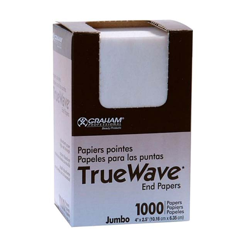 "Image 1 - 1000 Jumbo End Papers for Perm Rods 4"" X 2/5"" by True Wave at Giell.com"