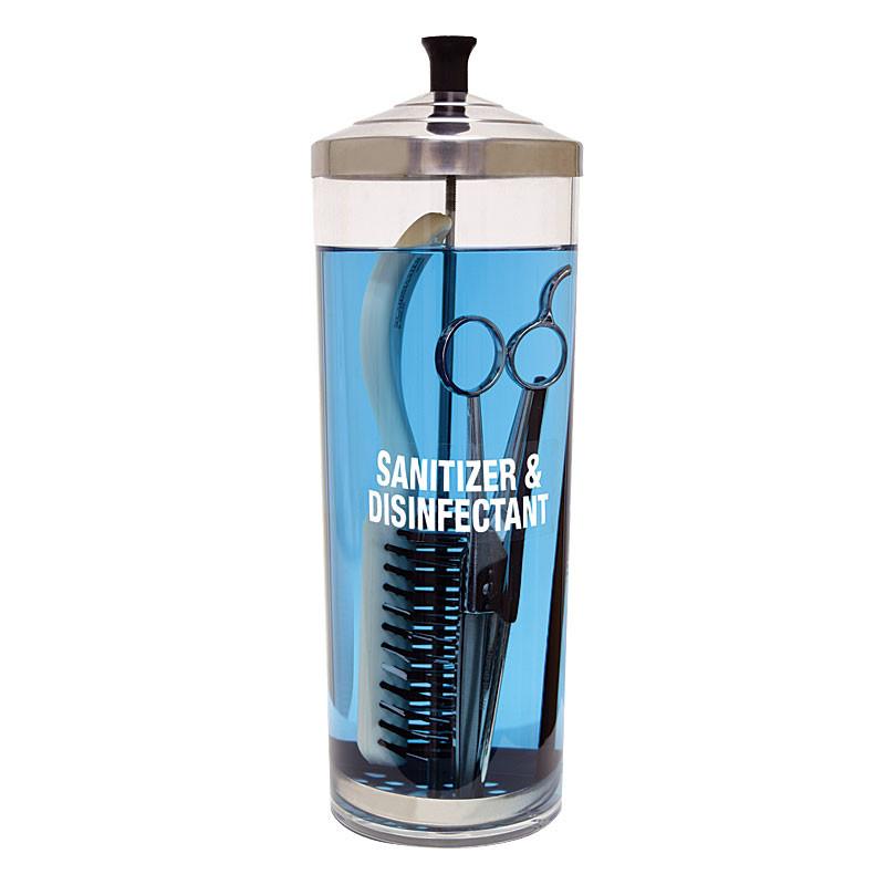 Image 1 - 42 oz Acrylic Salon, Nail and Barber Tools Sanitizing Jar