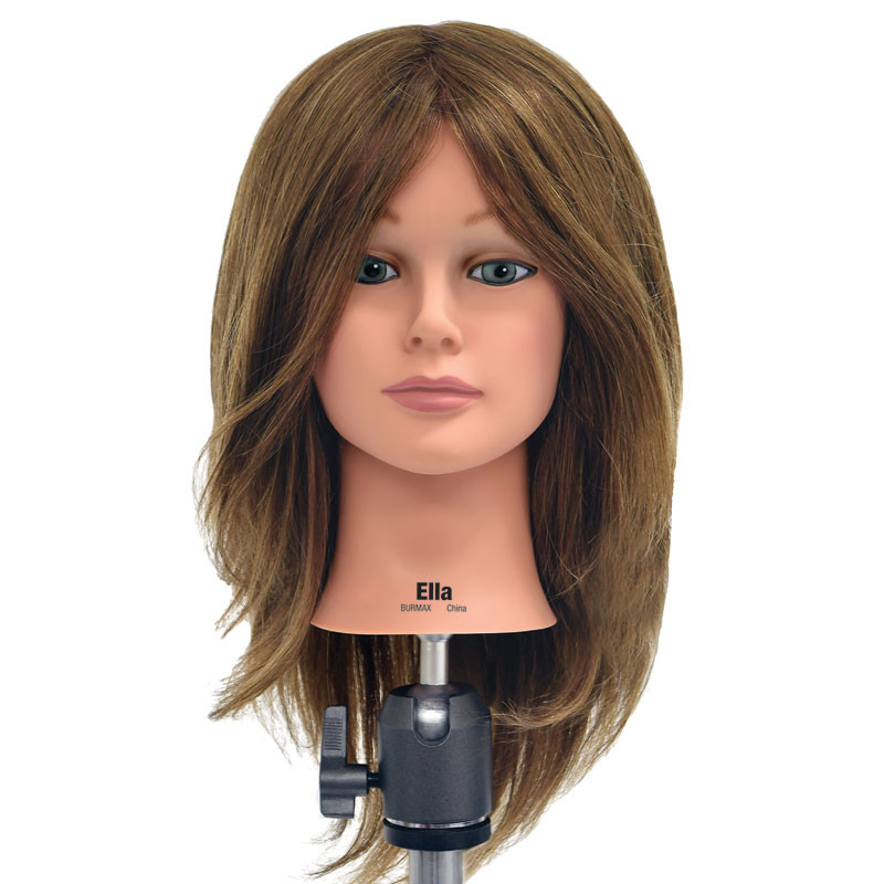 "Image 1 - Ella 21"" Virgin 100% Human Hair Light Brown Cosmetology Mannequin Head by Celebrity"