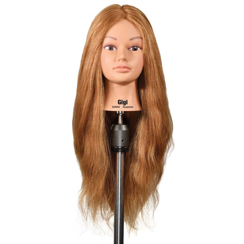 """Image 1 - Gigi 25"""" Extra Thick Dark Blonde 100% Human Hair Cosmetology Mannequin Head by Celebrity"""
