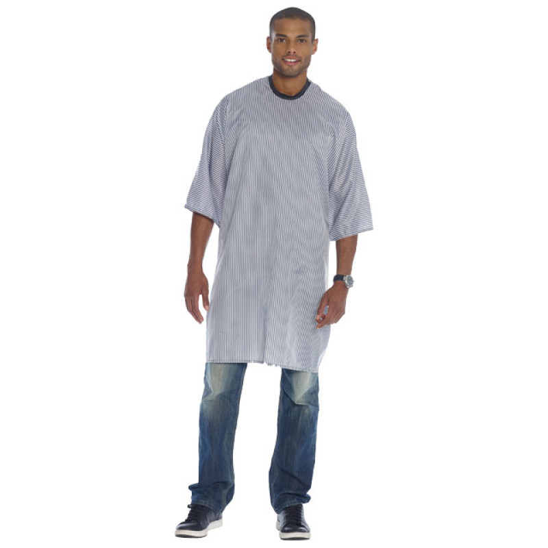 """Image 1 - Barber Cutting Cape 50"""" X 50"""" Striped Print Polyester by Diane at Giell.com"""
