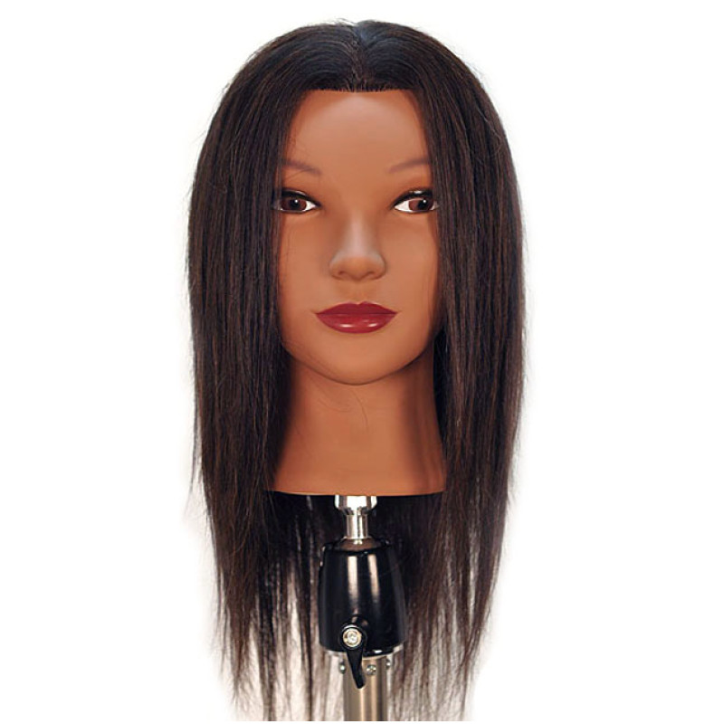 "Image 1 - Malika 19"" Ethnic 100% Human Hair Cosmetology Mannequin Head by Diane at Giell.com"