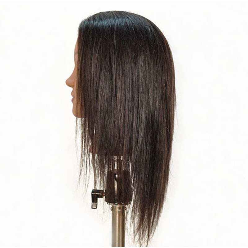 "Image 2 - Malika 19"" Ethnic 100% Human Hair Cosmetology Mannequin Head by Diane at Giell.com"