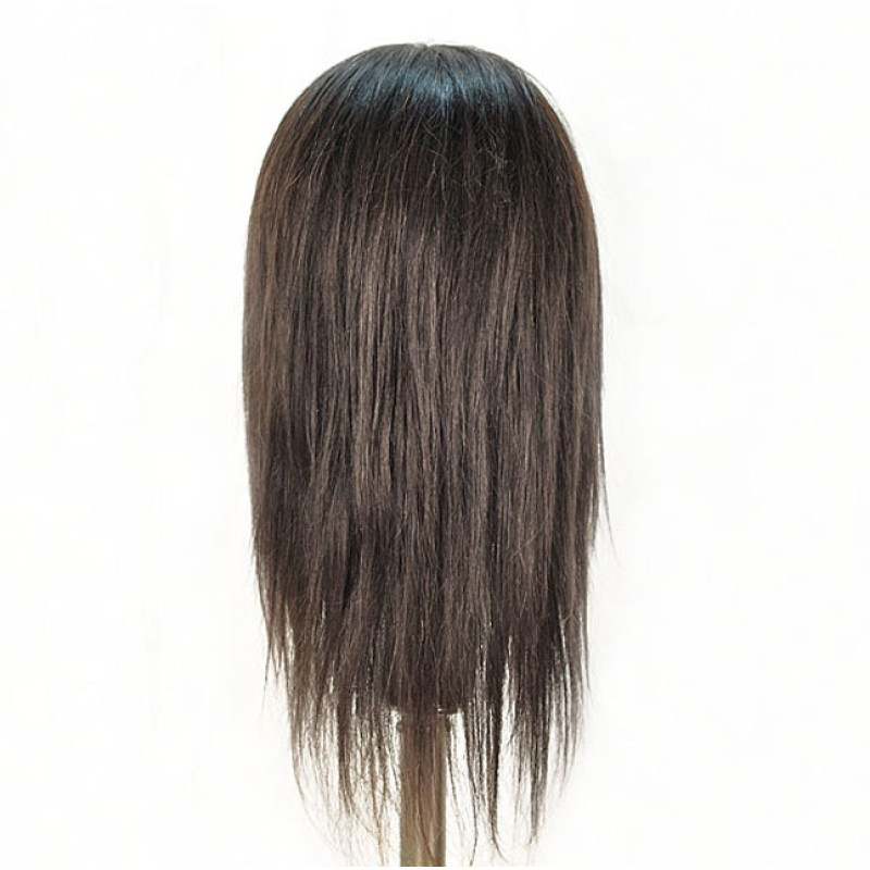 "Image 3 - Malika 19"" Ethnic 100% Human Hair Cosmetology Mannequin Head by Diane at Giell.com"
