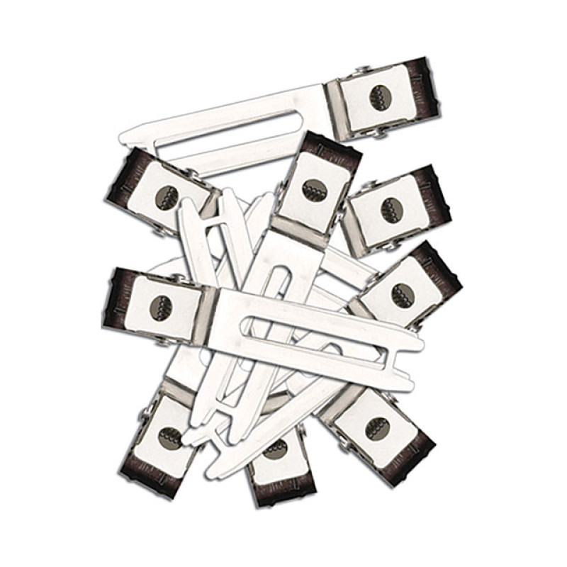"Image 1 - 1 3/4"" Double Prong Hair Clips Steel Slide-In 80 pk by Diane at Giell.com"