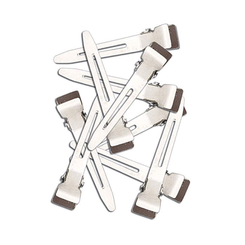 "Image 1 - 1 3/4"" Single Prong Steel Hair Clips 80 pk by Diane at Giell.com"