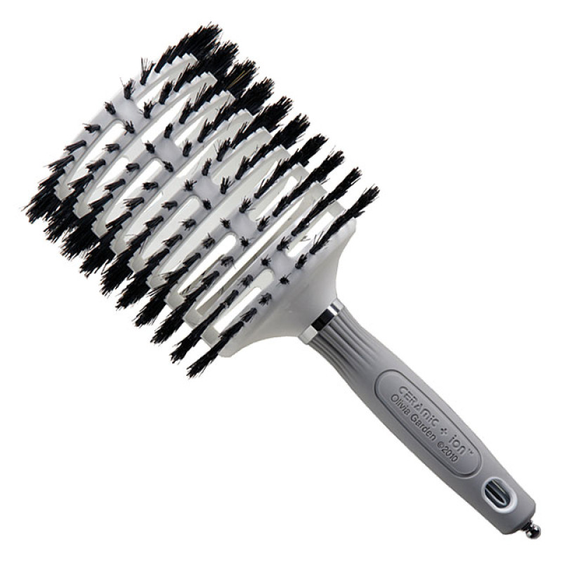 """Image 1 - 4 1/2"""" Turbo Vent Ceramic + Ion 100% Boar Round Hair Brush by Olivia Garden at Giell.com"""