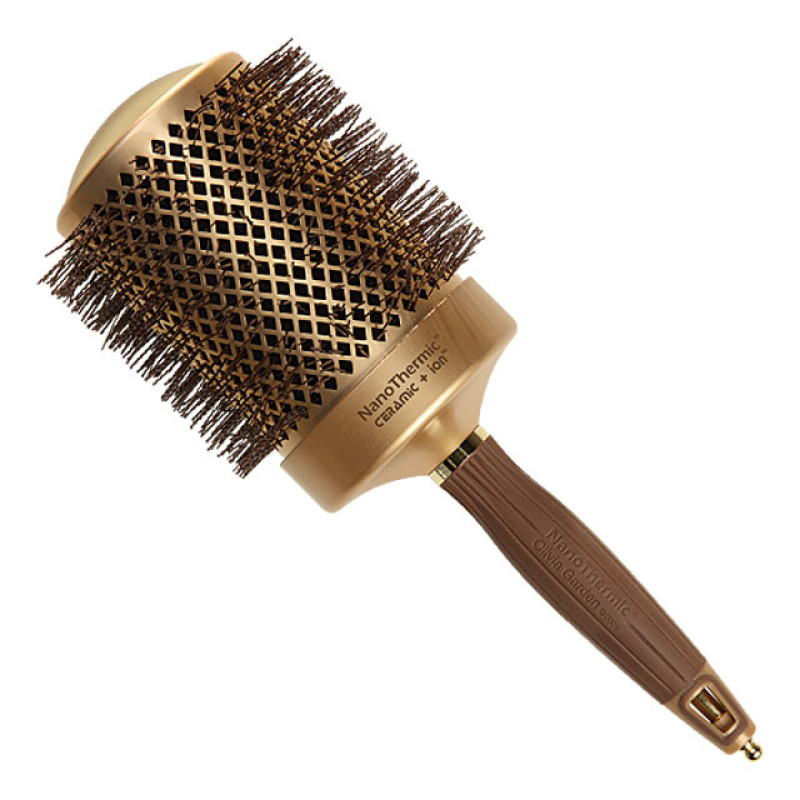 "Image 1 - 3 1/4"" Nano Thermic Round Thermal Hair Brush by Olivia Garden at Giell.com"