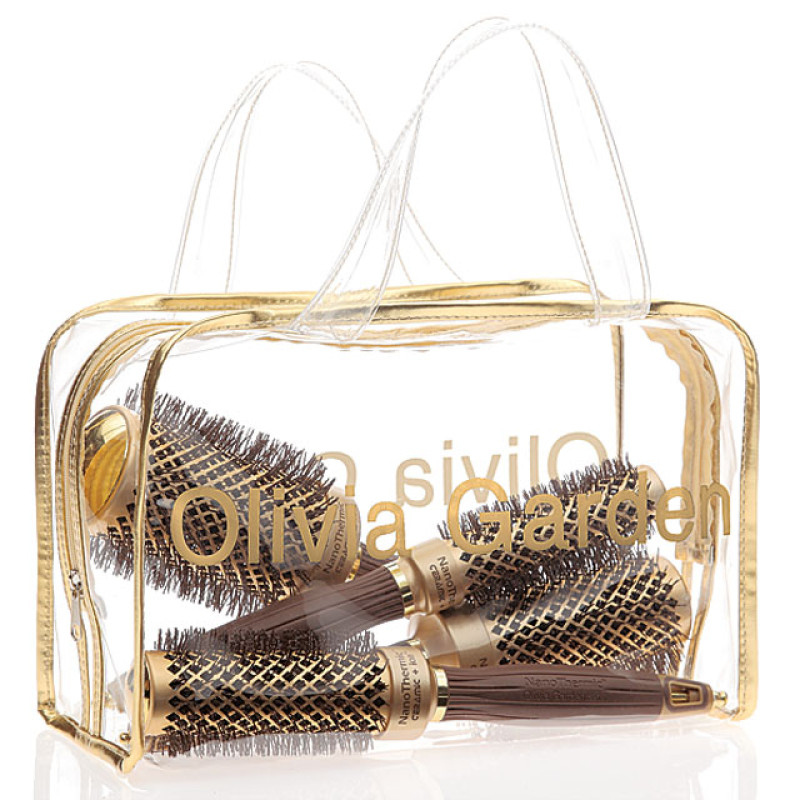 Image 1 - 4 pcs Bag Deal Nano Thermic Thermal Round Hair Brushes by Olivia Garden at Giell.com
