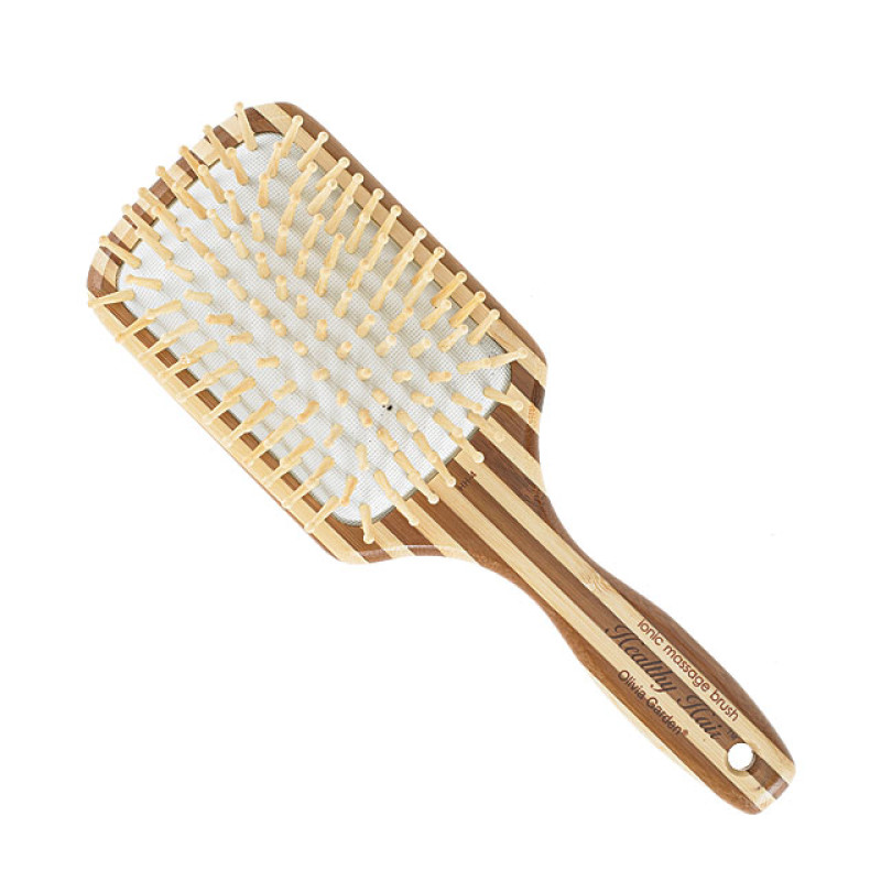 Image 1 - Large Paddle Ionic Massage Hair Brush by Olivia Garden at Giell.com