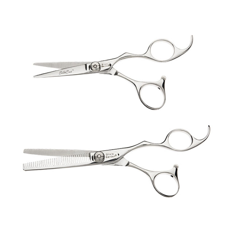 """Image 1 - Silk Cut 5"""" Hair Cutting Shears and 6"""" Thinners Set by Olivia Garden at Giell.com"""
