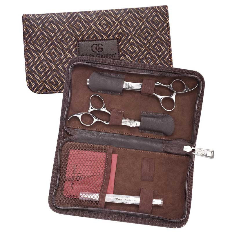 """Image 2 - Silk Cut 6 1/2"""" Hair Cutting Shears and 6"""" Thinners Set by Olivia Garden at Giell.com"""