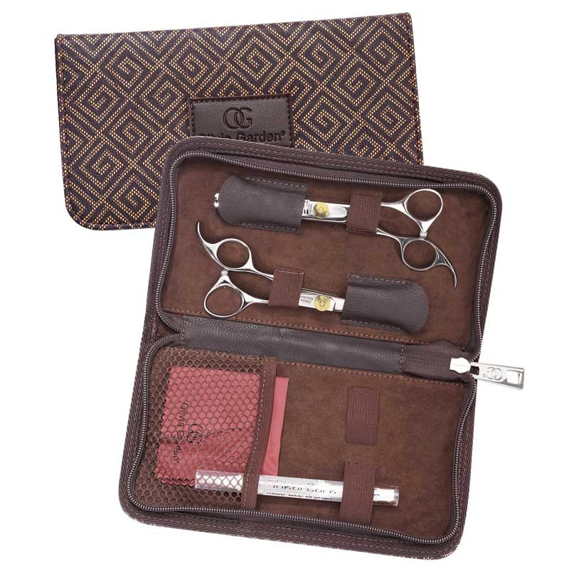 """Image 2 - Silk Cut 5 3/4"""" Left-Handed Hair Cutting Shears and 6"""" Thinners Set by Olivia Garden at Giell.com"""
