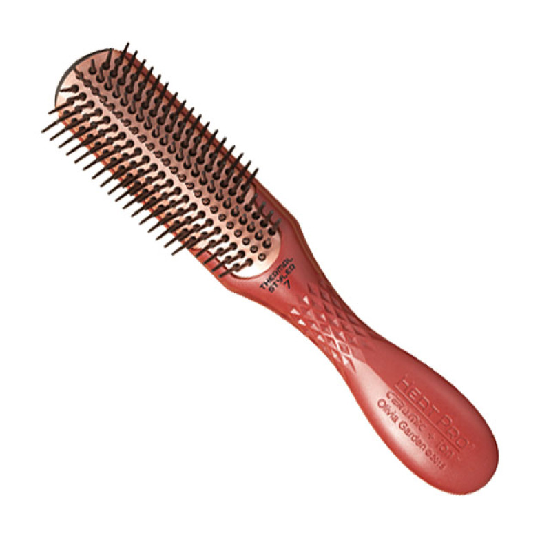 Heat Pro 7 Row Ceramic Ion Thermal Styler Hair Brush By Olivia Garden At