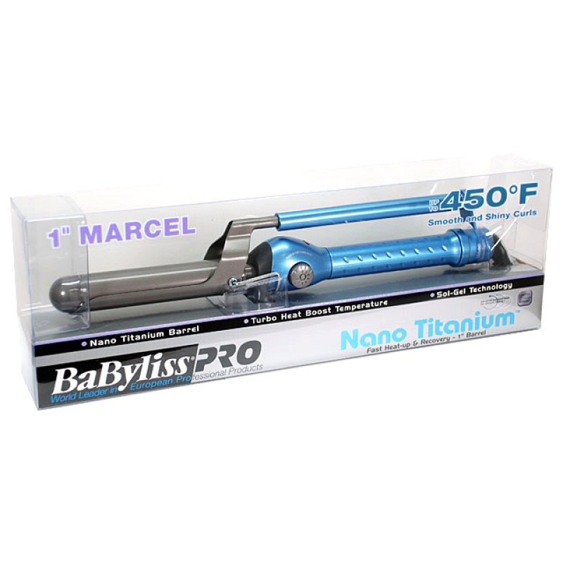 "Image 2 - BaByliss Pro Pro Nano Titanium 1"" Marcel Grip Curling Iron at Giell.com"