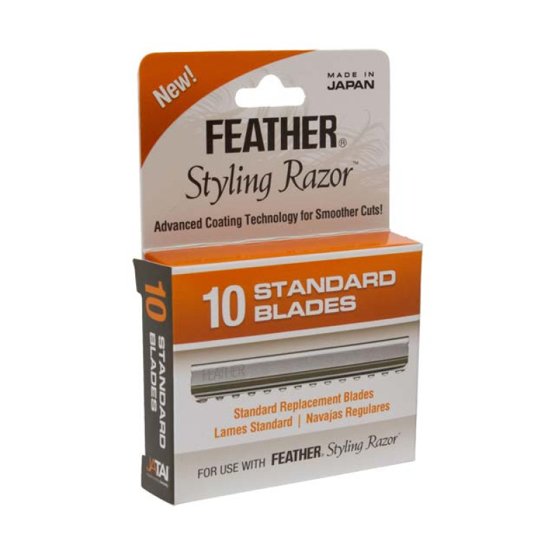 Image 1 - 10-pk Feather Styling Razor Replacement Standard Blades at Giell.com
