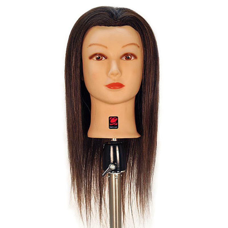 "Image 1 - Caroline 21"" 100% Human Hair Cosmetology Mannequin Head by Giell at Giell.com"
