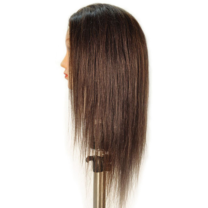 """Image 2 - Caroline 21"""" 100% Human Hair Cosmetology Mannequin Head by Giell at Giell.com"""