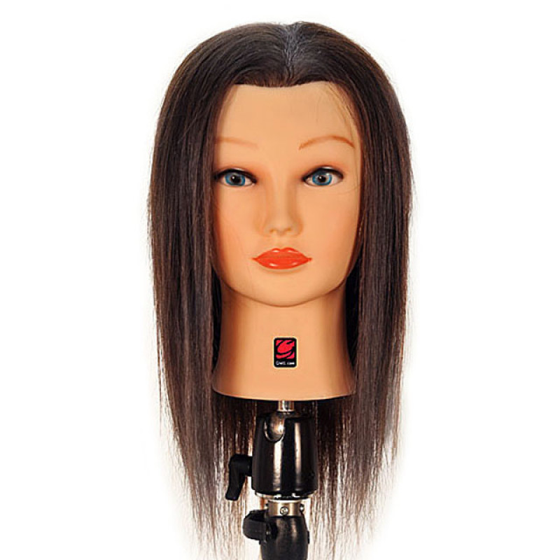 """Image 1 - Joanne 19"""" 100% Human Hair Cosmetology Mannequin Head by Giell at Giell.com"""