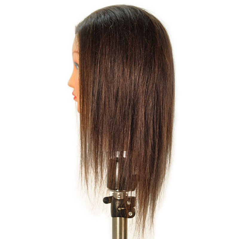 "Image 2 - Joanne 19"" 100% Human Hair Cosmetology Mannequin Head by Giell at Giell.com"