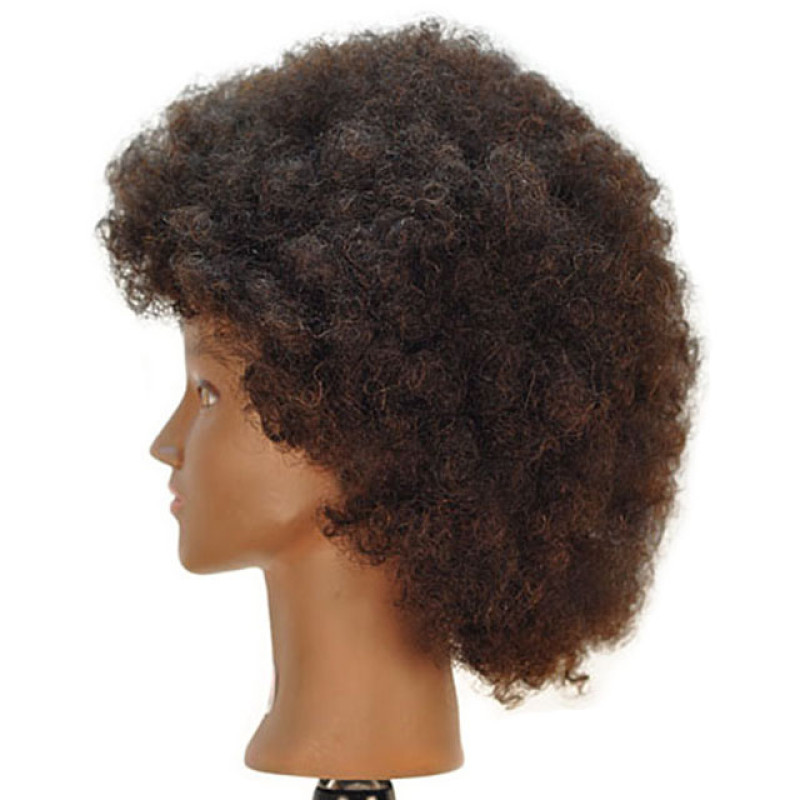 "Image 2 - Jordan 16"" Afro Style Black 100% Human Hair Cosmetology Mannequin Head by Giell at Giell.com"